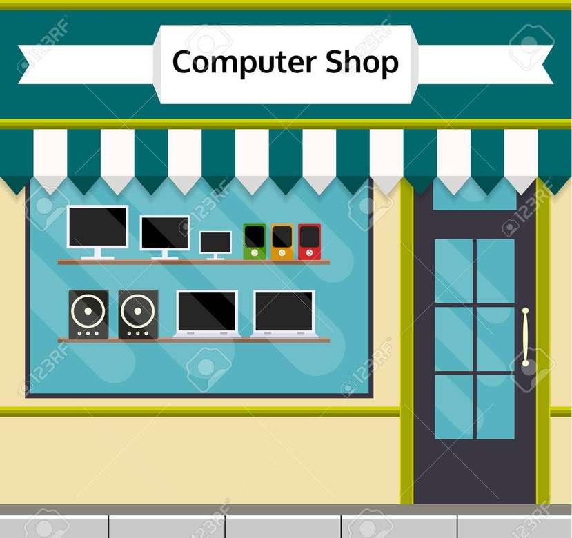sklep komputerowy dla 3 klasy - puzzle sklepu komputerowego (5×5)