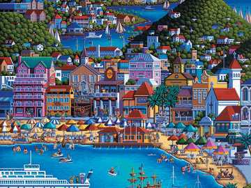 Big city. - Landscape puzzle.