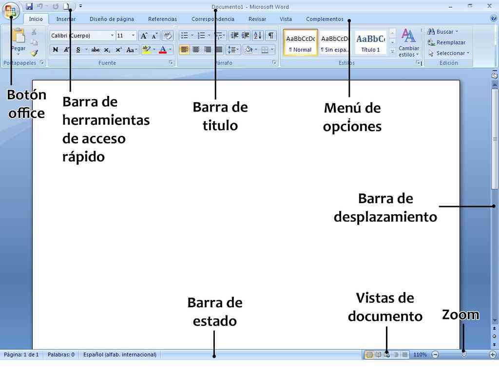 MIcrosoft word processor - the MIcrosoft word processor. Office, and its basic elements (9×7)