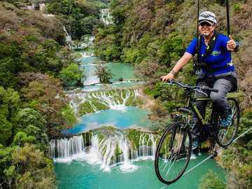 The huasteca potosina - Zipline by bike in San Luis Potosí
