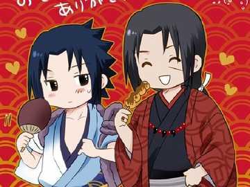 Itachi y Sasuke en kimono - Itachi y Sasuke en kimono