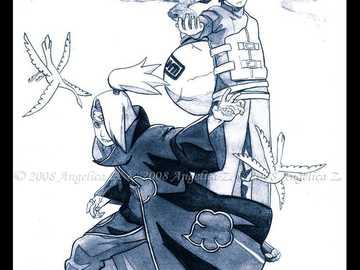 Gaara and Deidara - Face to face, a decisive battle