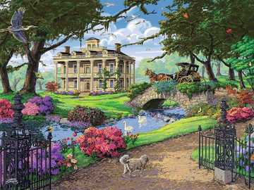 Painted mansion. - Art. Painting. Puzzle.