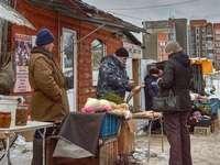 at the market - street trade in Ukraine