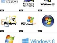 Windows logos up to version 8