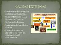 External causes of independence