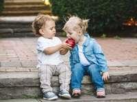 Sharing an apple - M ....................