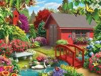 Paesaggio colorato. - Puzzle di paesaggio.