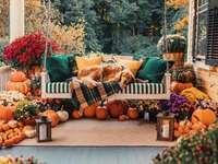 Na verandě na podzim - Na podzim odpočívejte na verandě