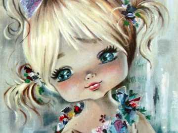 infanzia con i fiori - bambina con bellissimi fiorellini