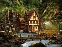 Vodní mlýn u malého potoka - Vodní mlýn u malého potoka