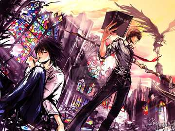 Light Yagami and L - The destination is already marked L