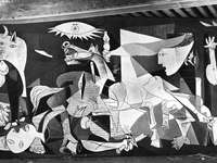 the Guernica pablo Picasso - contextualization in the face of tics