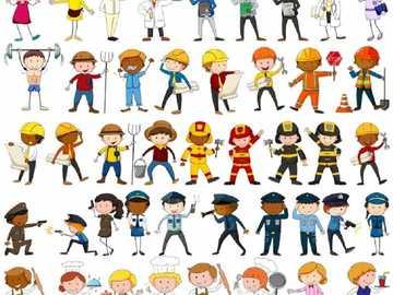 Puzzle d'emplois - C'est un puzzle conçu pour aider mes étudiants à se renseigner sur les emplois.