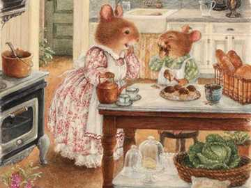 Puzzles - cute mice - Puzzles - cute mice in the kitchen