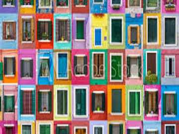 Colorful windows. - Colorful windows to the world.