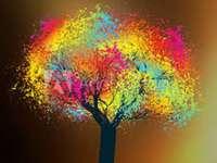 Färgglada träd. - Ett vackert färgglatt träd ..