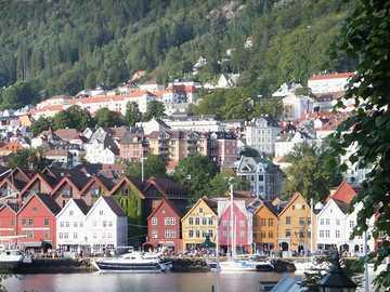Norwegen, Bergen - Norwegen, Bergen, Bryggen
