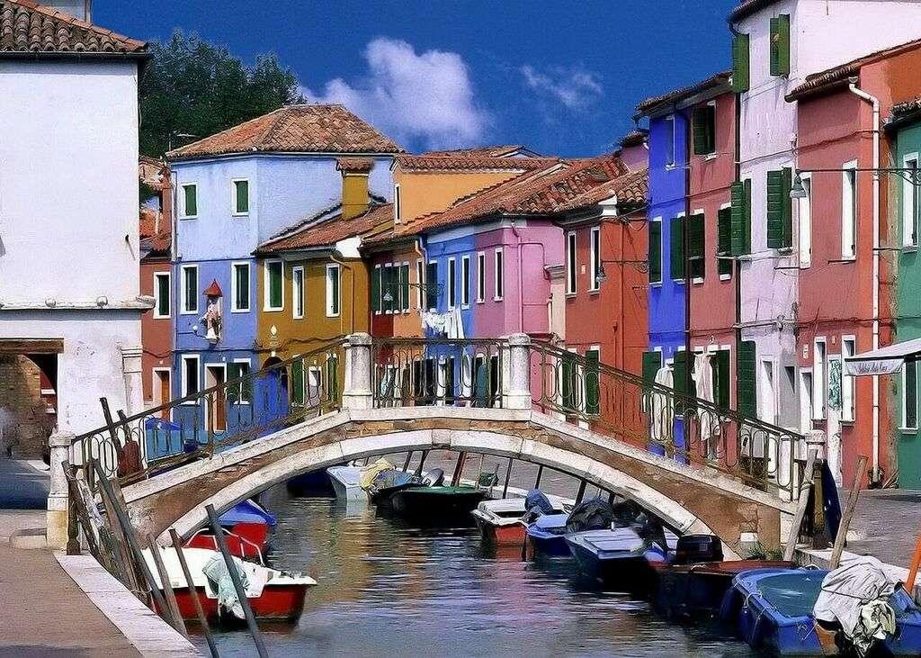 Case colorate su Burano Murano Venezia