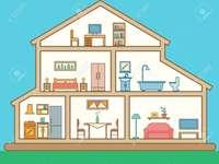 Las partes innternas de la casa