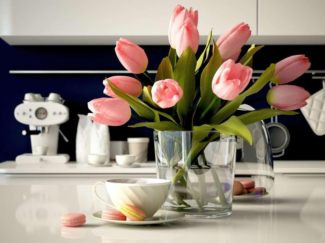 Różowe tulipany - M (12×9)