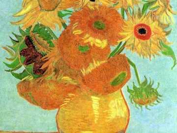 VASO COM GIRASSÓIS - Pintura de Vincent van gogh