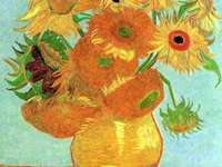 VASE WITH SUNFLOWERS - Vincent van gogh painting