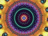 Mandala színes