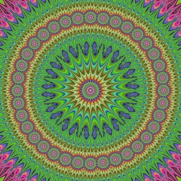 Mandala colorată
