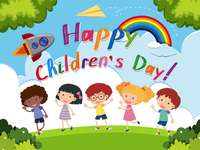 "Children's Day - Hello, kids! Let's go! Notice how they say ""Happy Children's Day"" in English"