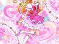 朝日奈未來(奇蹟天使Cure Miracle) - 第十三部魔法使 光之美少女,因目擊不明物體墜落至附近公園,第二天帶著