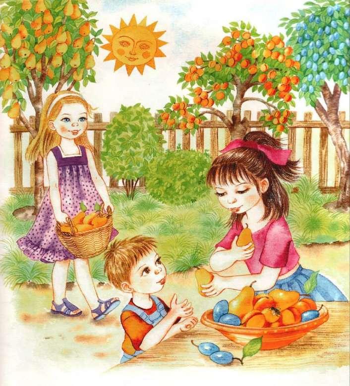 Herbstaspekte - Der Herbst ist die Zeit des Reichtums, die Zeit, in der uns die Früchte unserer Arbeit angeboten werden (3×4)