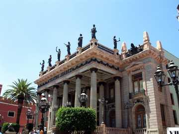 Centre historique de Guanajuato - Théâtre Juárez, dans la ville de Guanajuato