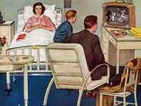 Místo na nemocnou se dívají na televizi - Místo na nemocnou se dívají na televizi
