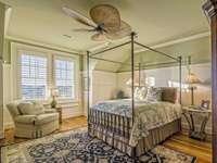 sypialnia - wnętrze stylowe sypialni