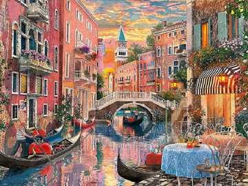 << Venedig >> - Landschaftspuzzle.