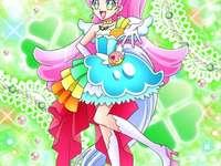 精靈綺羅鈴/綺羅星夏爾(聖代天使Cure Parfait) - 第十四部光之美少女:食尚甜心主角之一,被冠以天才甜品師之稱,在法國�