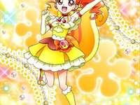 有栖川陽理(卡士達天使Cure Custard) - 第十四部光之美少女:食尚甜心主角之一,無意中看到宇佐美一花變身戰鬥�