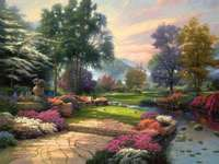 Pittura giardino e paesaggio
