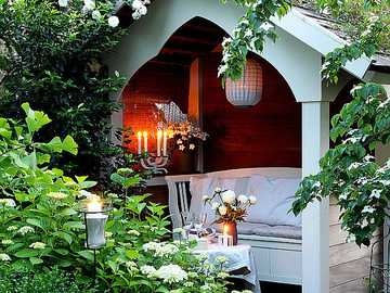 Um canto de jardim romântico - Um canto de jardim romântico