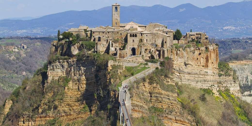 Civita di Bagnoregio Abruzzo Itálie skládačka