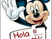 Χόλα Μίκυ - Ισπανικά Mickey Puzzle