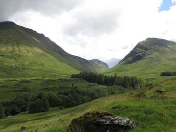 Glen Coe, Écosse - Vue sur la vallée écossaise de Glen Coe