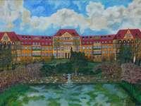 Sanatorium au calme - Bruno Podjaski, peintre naïf