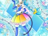 尤妮/瑪歐/巴凱喵(宇宙天使Cure Cosmo) - 第十六部星光閃亮光之美少女主角之一,彩虹星慘劇發生時唯一的倖存者,�