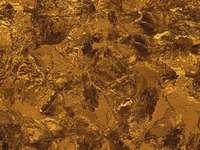 bruin en zwart abstract schilderij - Gouden vloeibare abstracte achtergrond of textuur.