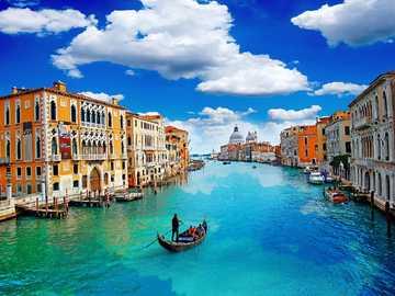 Италия-Венеция. - Пейзаж пъзел.