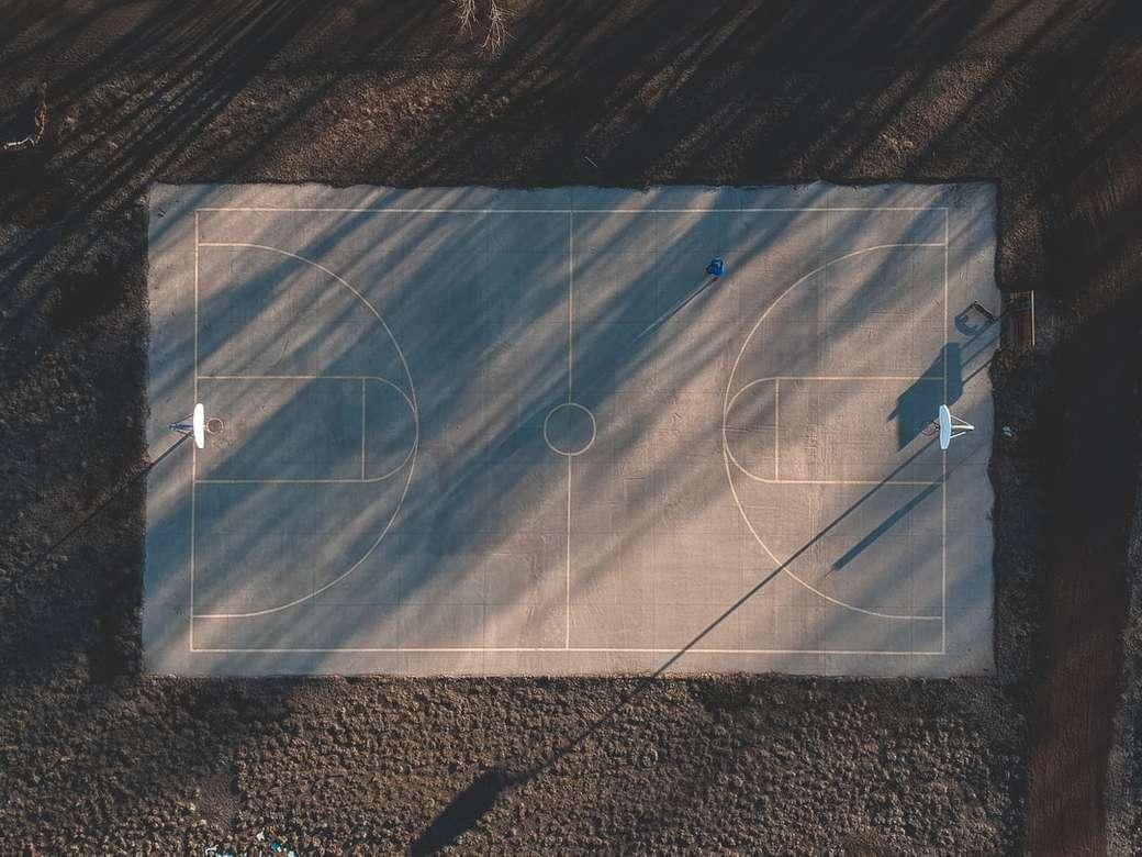 μπλε και άσπρο γήπεδο μπάσκετ παζλ