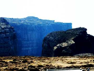 Gozo Felsklippen - Felsklippen auf der Insel Gozo