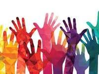 Culturele diversiteit 3 - Handen in verschillende kleuren.